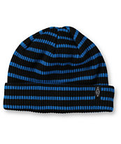 Empyre Clipper Black & Blue Stripe Beanie