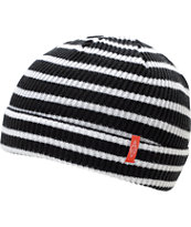 Empyre Clipper Black & White Stripe Beanie