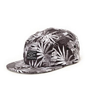 Empyre Clique Black & White Floral 5 Panel Hat