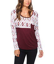 Empyre Corey Fig & Tribal Dolman Top