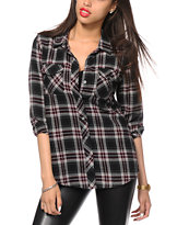 Empyre Cortland Black Flannel Shirt