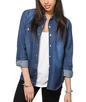 Empyre Cortland Dark Denim Long Sleeve Shirt
