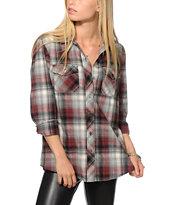 Empyre Cortland Tawny Port Flannel Shirt