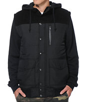 Empyre Country Black Corduroy Hooded Vest Jacket