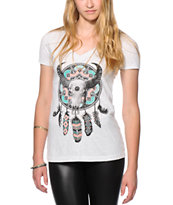Empyre Cow Skull Decor V-Neck T-Shirt