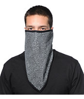 Empyre Crackle Grey & Black Face Mask Bandana