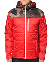 Empyre Crestline Red & Camo Puffy Jacket