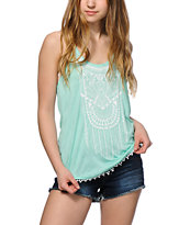 Empyre Dalton Tribal Mint Tank Top