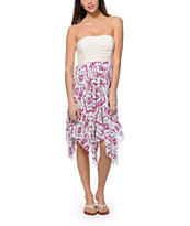Empyre Dana Cream & Lavender Strapless Dress