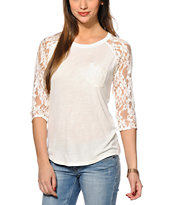Empyre Dana Cream Lace Top