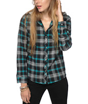 Empyre Delancy Mint Hooded Flannel Shirt