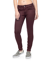Empyre Delaney Burgundy Sateen Skinny Pants