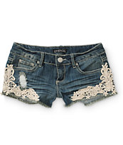 Empyre Demi Crochet Side Denim Shorts