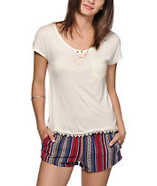 Empyre Diaz Crochet Pocket Dolman T-Shirt