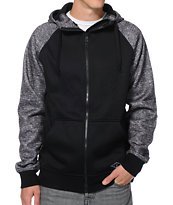 Empyre Dirty Paws Black & Charcoal Zip Up Tech Fleece Jacket