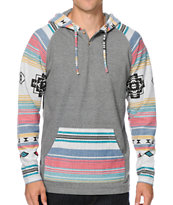 Empyre Disposition Tribal Hooded Henley Shirt