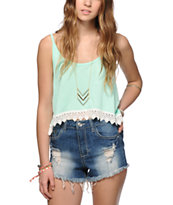 Empyre Donato Mint Crop Tank Top