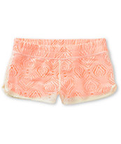 Empyre Dorea Natural & Coral Crochet Board Shorts