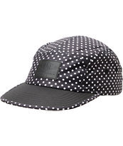 Empyre Dotty Black & White Polka Dot 5 Panel Hat