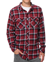 Empyre Drain You Burgundy Long Sleeve Flannel Shirt