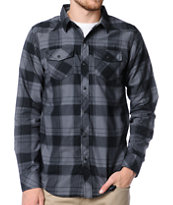 Empyre Dusk Black & Grey Plaid Button Up Shirt