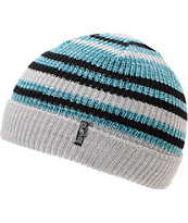 Empyre Edgar Blue, Black and Grey Stripe Beanie
