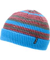 Empyre Edgar Blue, Grey & Maroon Stripe Beanie