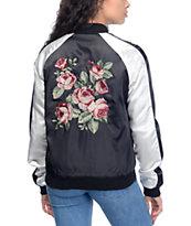 Empyre Edie Black & White Rose Souvenir Jacket