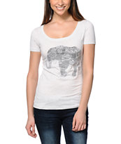 Empyre Elephant Ink Scoop Neck Tee Shirt