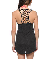 Empyre Elisa Charcoal Net Back Tank Dress