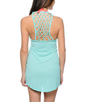 Empyre Elisa Mint Net Back Tank Dress