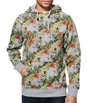 Empyre Emerge Grey Tropical Pullover Hoodie