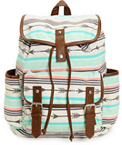 Empyre Emily Arrow Print Rucksack Backpack