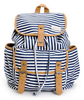 Empyre Emily Navy Stripe Rucksack Backpack