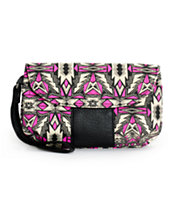 Empyre Erin Purple Winter Tribal Print Wristlet