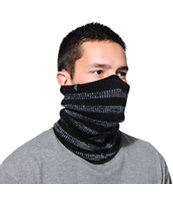 Empyre Eyesdown Black & White Striped Neckwarmer