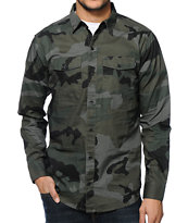 Empyre Faust Camo Long Sleeve Button Up Shirt
