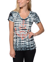 Empyre Find Your Anchor Black Tie Dye V-Neck Tee Shirt