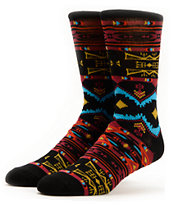 Empyre Flame Game Black Crew Socks