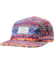 Empyre Flaming Turquoise Tribal Print 5 Panel Hat