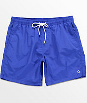 Empyre Floater Blue Elastic Waist Nylon Board Shorts