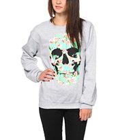 Empyre Flower Skull Crew Neck Sweatshirt