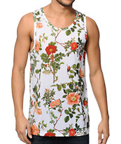 Empyre Forest White Floral Tank Top