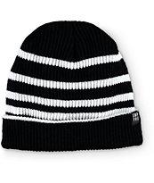 Empyre Foster Black & White Stripe Beanie