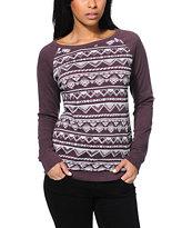 Empyre Frankie Blackberry Pullover Crew Neck Sweatshirt