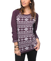 Empyre Frankie Blackberry Tribal Crew Neck Sweatshirt