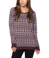 Empyre Frankie Burnout Fair Isle Crew Neck Sweatshirt
