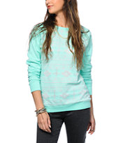 Empyre Frankie Mint Tribal Crew Neck Sweatshirt