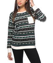Empyre Frankie Multi Tribal Crew Neck Sweatshirt