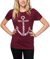Empyre Free Spirit Maroon T-Shirt